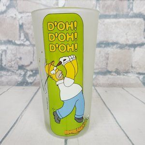 "Homer Simpson Frosted Glass ""D'oh"" Golfing Dad"